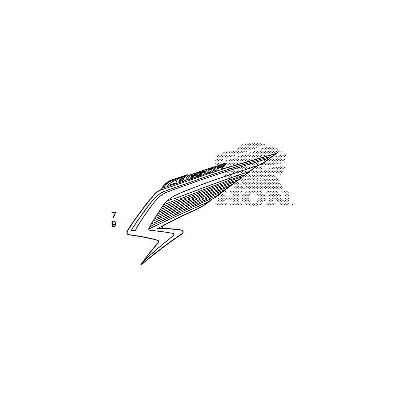 740 Autocollant Sticker Flanc Avant Gauche Honda Cb650fon 2015 Yamaha Yzf R3