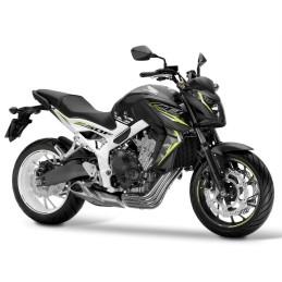 KIT Stickers Honda CB650F 2016 NOIR/BLANC