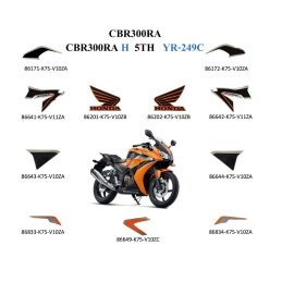 Kit Autocollant Orange Candy Energy Honda CBR300R
