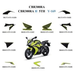 Kit Autocollant Jaune Lemon Ice 2017 Honda CBR300R