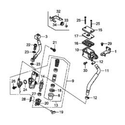 Rear Master Cylinder Complet Honda CB650F