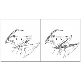 Marks Front Panel Left Side Yamaha YZF R15 2017 2018 2019 2020