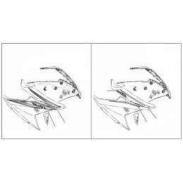 Marks Front Panel Right Side Yamaha YZF R15 2017 2018 2019 2020
