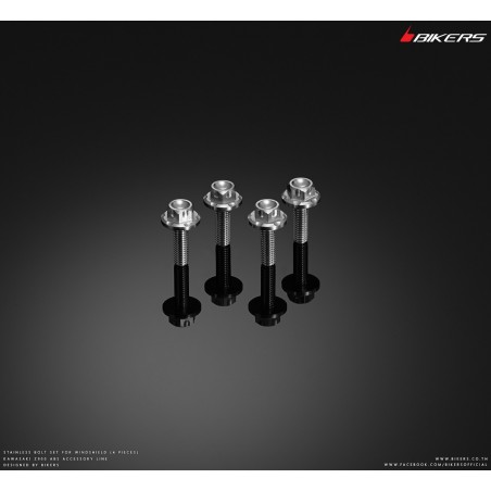 Stainless Bolt Set for Windshield Bikers Motorcycle and Scooter
