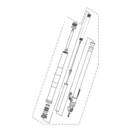 Front Fork Left Yamaha YZF R3 2019 2020 2021