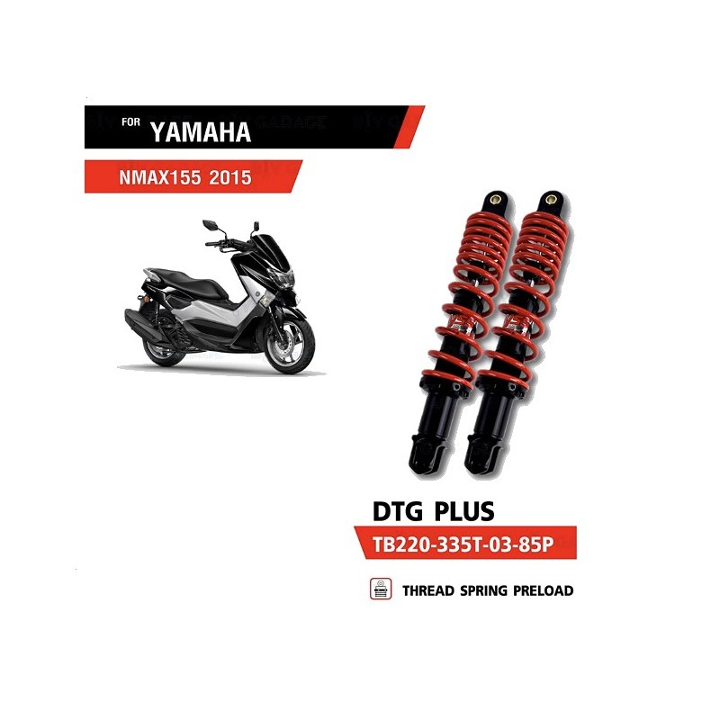 Shocks Absorber YSS DTG PLUS RED YAMAHA NMAX