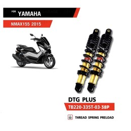 Shocks Absorber YSS DTG PLUS BLACK YAMAHA NMAX
