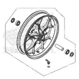 Front Wheel Honda CB650R 2019 2020