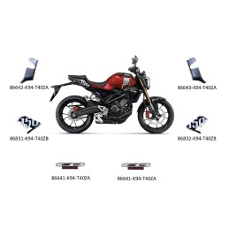 Set Marks Honda CB150R 2019 RED