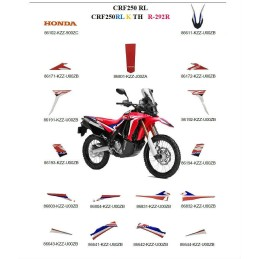 Kit Stickers Complet Honda CRF 250L RALLY 2019