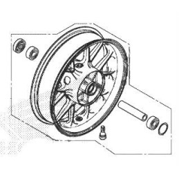 Rear Wheel Honda CB500X 2019 2020 2021