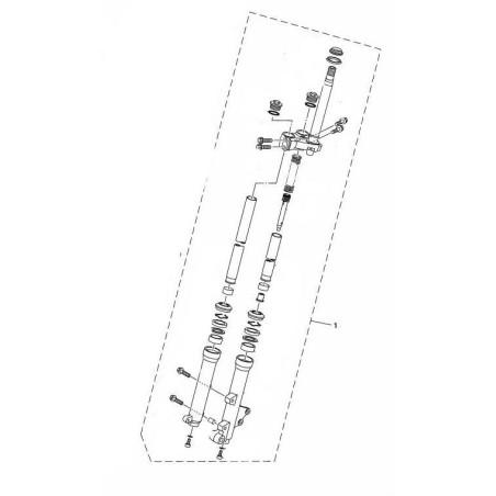 Set Front Fork Left Yamaha Tricity 125 2014/15