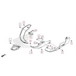 Kit Fixation Carénages Inférieur Honda CB500X