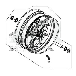 Front Wheel Honda CBR650R 2019
