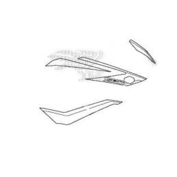 Kit Autocollants Carénage Flanc Avant Droit Honda CBR 500R 2018