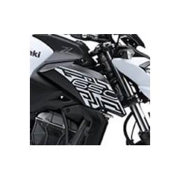 Autocollant Motif Ecope Droit Kawasaki Z650 Blanc 2019