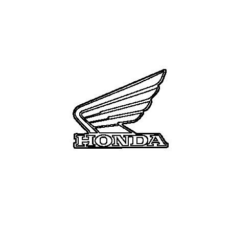 Autocollant Sticker Logo Reservoir Gauche Honda CBR 500R