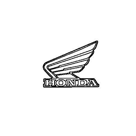 Autocollant Sticker Logo Gauche Reservoir Honda CBR300R