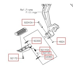 Set Fitting Rear Step Kawasaki NINJA 650
