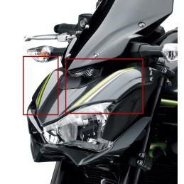 Set Patterns Cowling Upper Headlight Kawasaki Z900 Gray 2017 2018