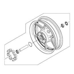 Rear Wheel Kawasaki Versys 650 2015/2021