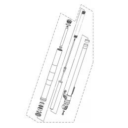 Front Fork Left Yamaha MT-03 2020 2021