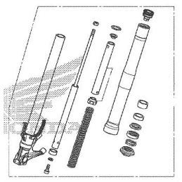 Front Fork Right Honda CBR650R 2021