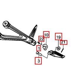 Set Fixing Arm Pillion Step Honda CB650R