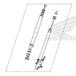 Front Fork Right Silver Honda MSX GROM 125 2021