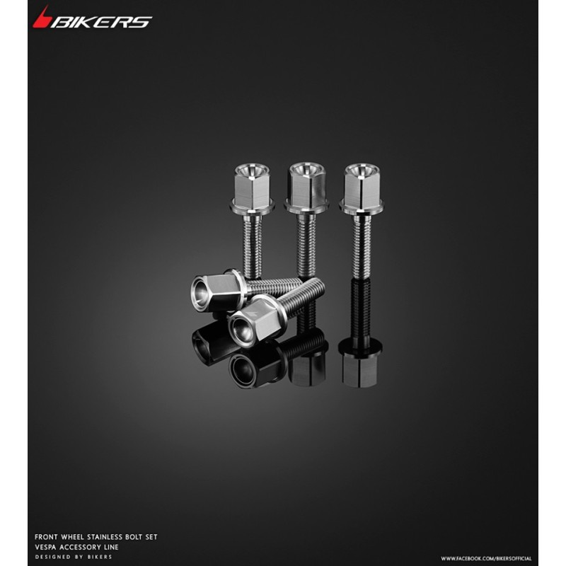 Set Front Wheel Stainless Bolts Bikers Scooter Piaggio Vespa