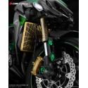 Stainless Titanium Coating Radiator Guard 1.2mm Bikers Kawasaki Z1000