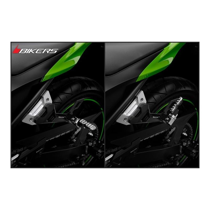 Reposes Pied Passager avec Support Bikers Kawasaki Ninja 250R