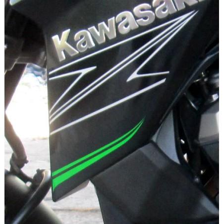 Sticker Motif Flanc Avant Gauche Kawasaki Z800 2014 2015