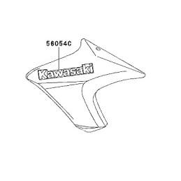 Autocollant Ecope Flanc Avant Logo Kawasaki ER6n 650