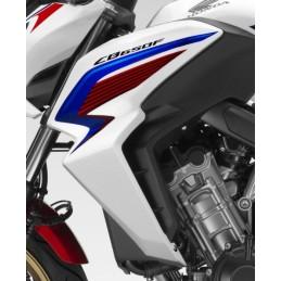 Flanc Avant Gauche Honda CB650F TRI-COLOR BLANC