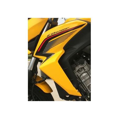 Flanc Avant Gauche Jaune Perle Queen Bee Honda CB650F