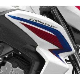 Autocollant Sticker Flanc Avant Droit Honda CB650F TRICOLOR BLANC