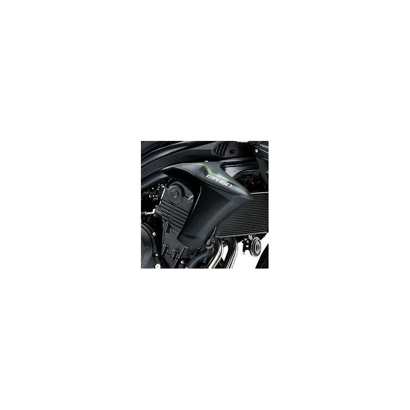 Kit Autocollants Ecope Droit Logo 2016 Kawasaki ER6N 650 GRIS MÉTALLIQUE CARBON