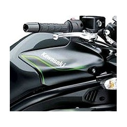 Pattern Left Tank Cover 2016 Kawasaki ER6N 650 METALLIC CARBON GRAY