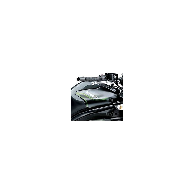 Autocollant Droit Couvre Reservoir 2016 Kawasaki ER6N 650 GRIS MÉTALLIQUE CARBON