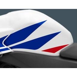 Autocollant Sticker Reservoir Gauche Honda CBR 500R Blanc Ross