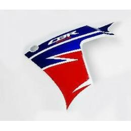 Autocollant Sticker Flanc Avant Gauche Honda CBR 500R Blanc Ross