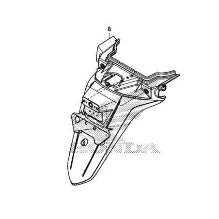 Rear Fender License Plate Support Honda Forza 300