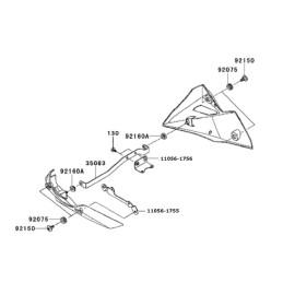 Kit Fixation Sabot Kawasaki Z800