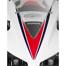 Stripe Upper Cowling Honda CBR300R Bicolor White/Red 2015