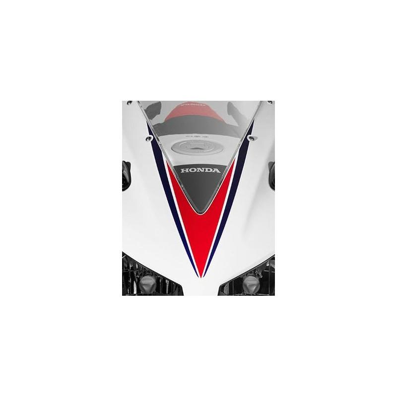 Stripe Upper Cowling Honda CBR300R Bicolor White/Red