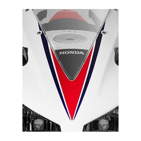 Stripe Upper Cowling Honda CBR300R Bicolor White/Red 2015