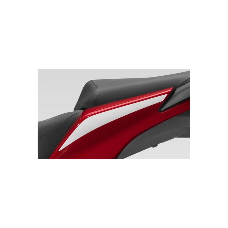 Stripe Rear Left Cover Honda CBR300R Bicolor White/Red