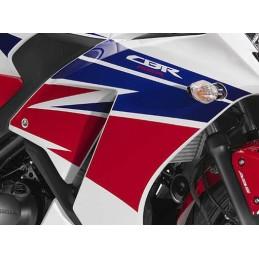 Autocollants Carénage Flanc Avant Droit Honda CBR300R Bicolor Blanc/Rouge