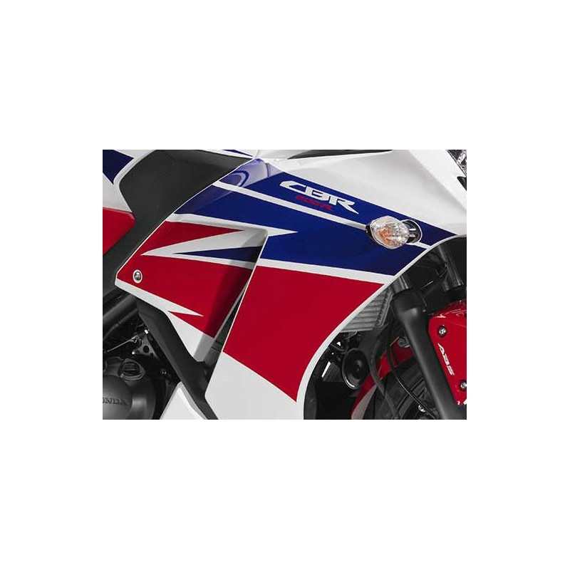 Stripes Right Middle Cowling Honda CBR300R Bicolor White/Red